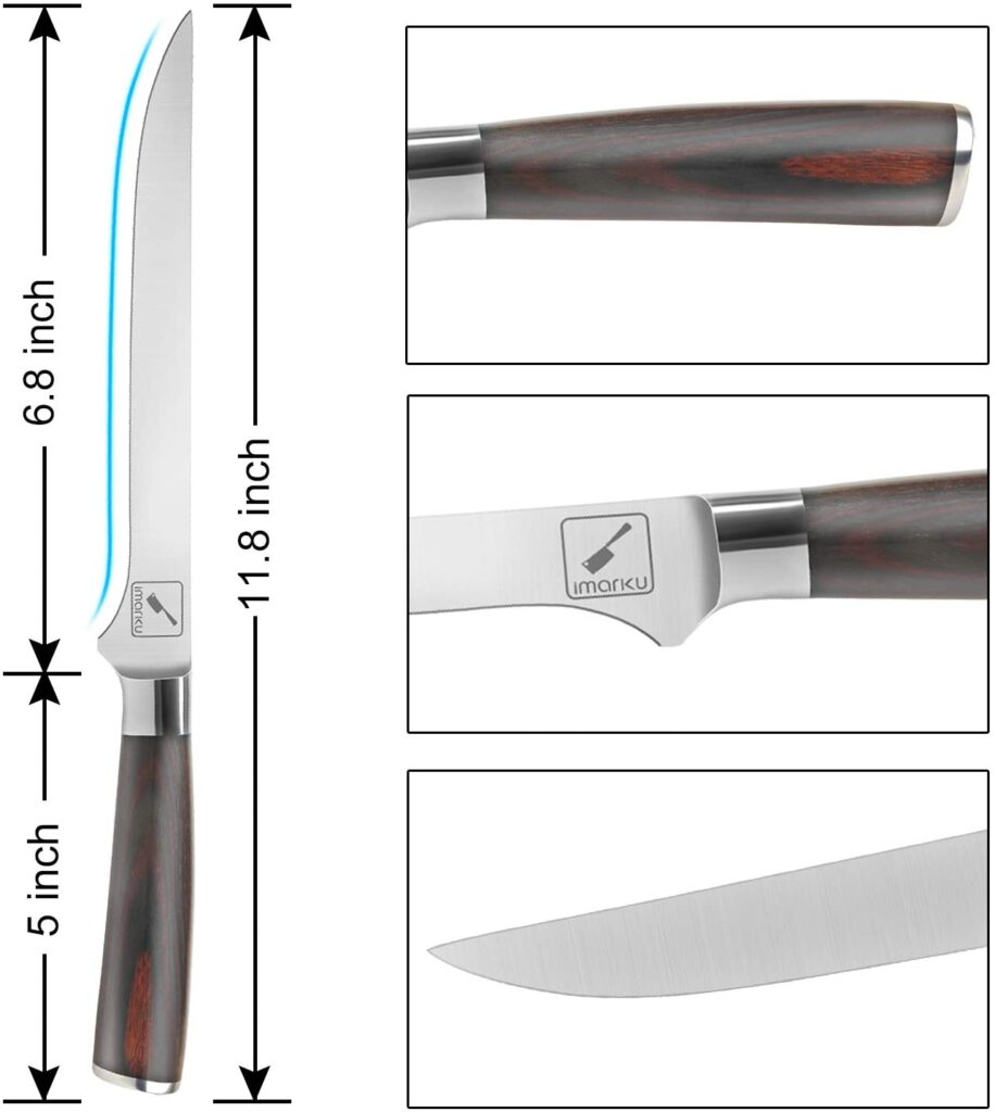 imarku boning knife as recommended by steakbuff.com. A compact knife to cut steak and meat