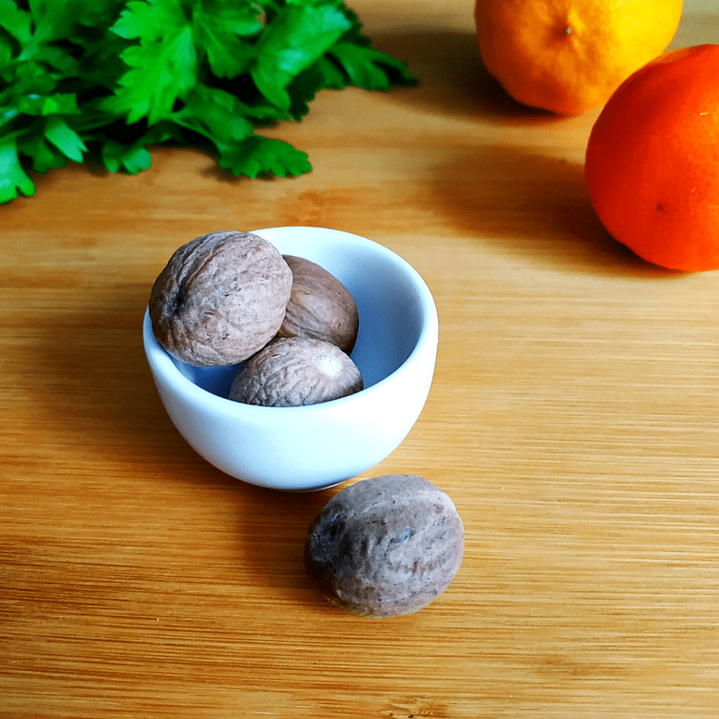#21 on our List of Spices is Whole Nutmeg