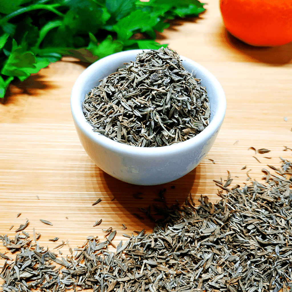Just short of the top ten at number 11 of the list of spices is dried Thyme.