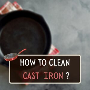 hot to clean cast iron