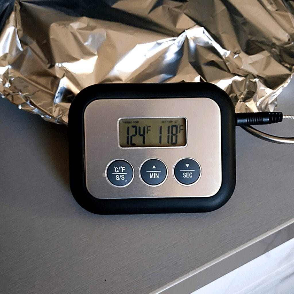 Carryover cooking increased core temp of the filet mignon by at least 5°F