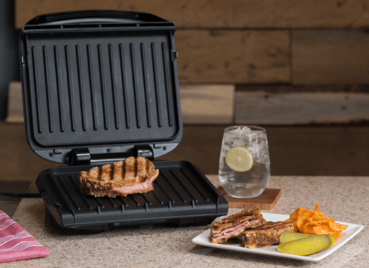 The best budget electric grill is the George Foreman 4 Serving electric grill with removable plates